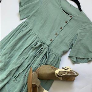 Dresses & Skirts - Duck Egg Blue Dress with pockets size small.